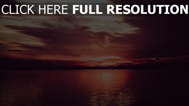hd hintergrundbilder sonnenuntergang wolken fluss