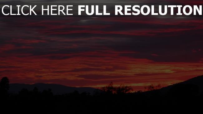 hd hintergrundbilder wolken himmel sonnenuntergang