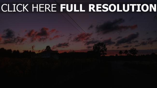hd hintergrundbilder straße bäume himmel sonnenuntergang