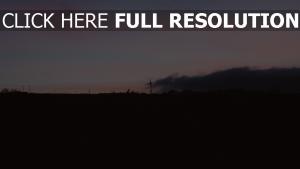 sonnenuntergang windgenerator himmel