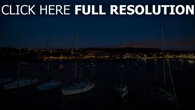 hd hintergrundbilder dock nacht boot meerdock