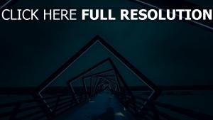 hintergrundbeleuchtung brücke architektur nacht