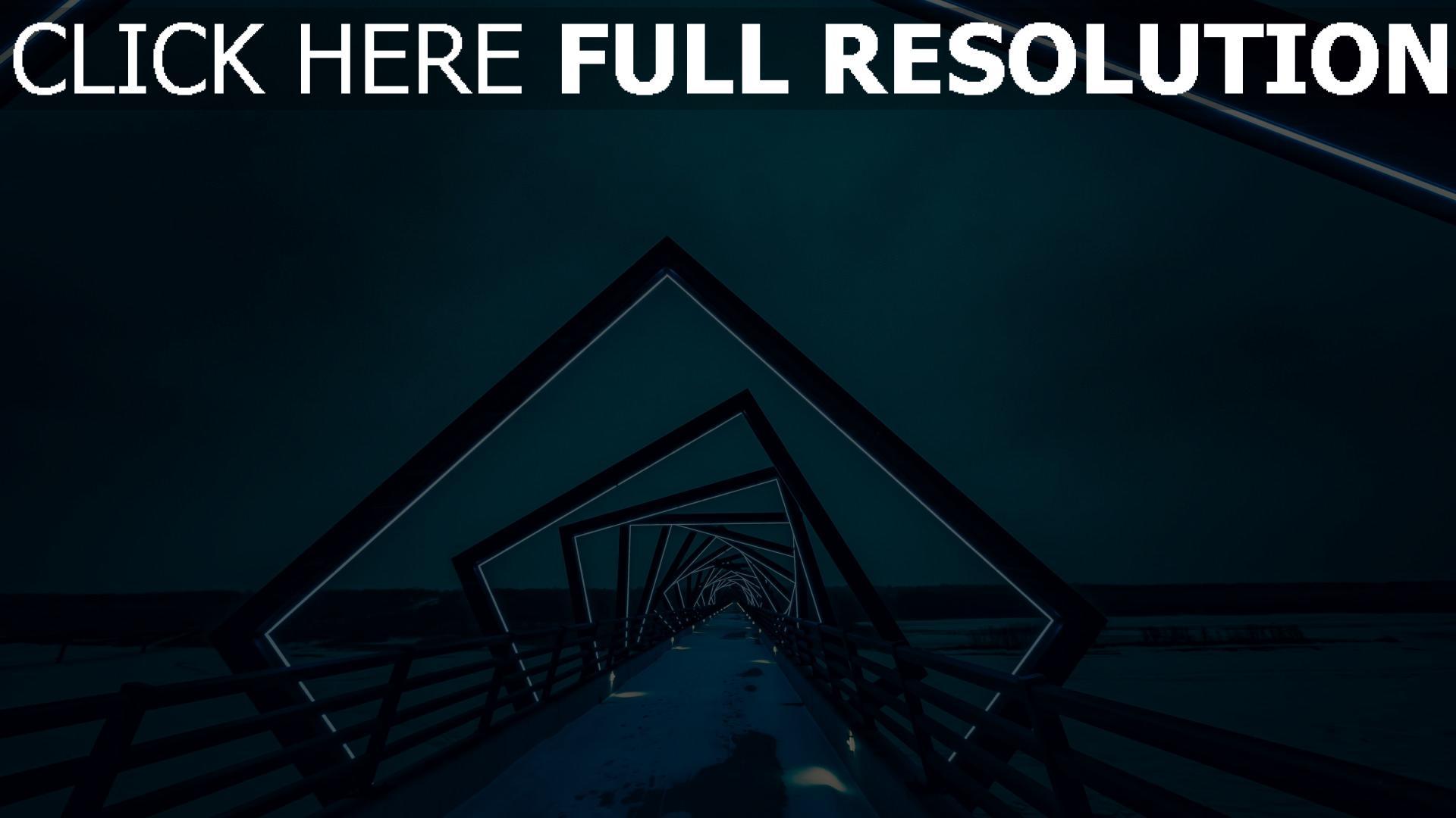 hd hintergrundbilder hintergrundbeleuchtung brücke architektur nacht 1920x1080