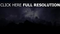bewölkt gewitter wolken