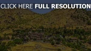 zypern gebäude dorf berge