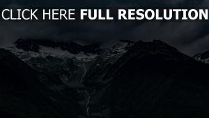 italien nebel alpen berge