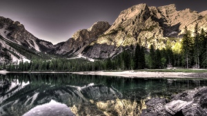 see hdr reflexion berge