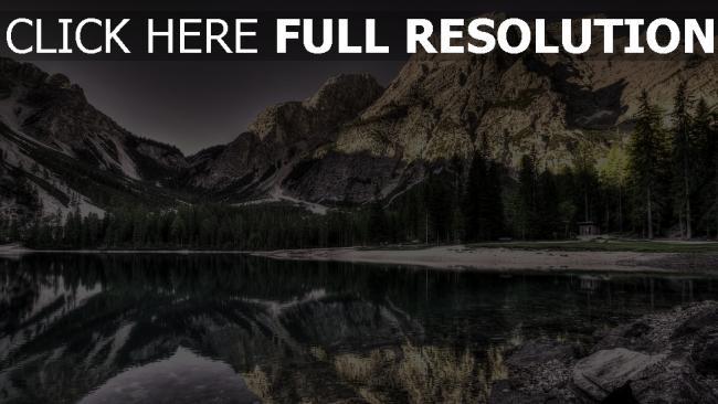 hd hintergrundbilder see hdr reflexion berge