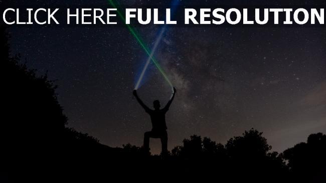 hd hintergrundbilder sterne nacht silhouette sternenhimmel lichtschwerter