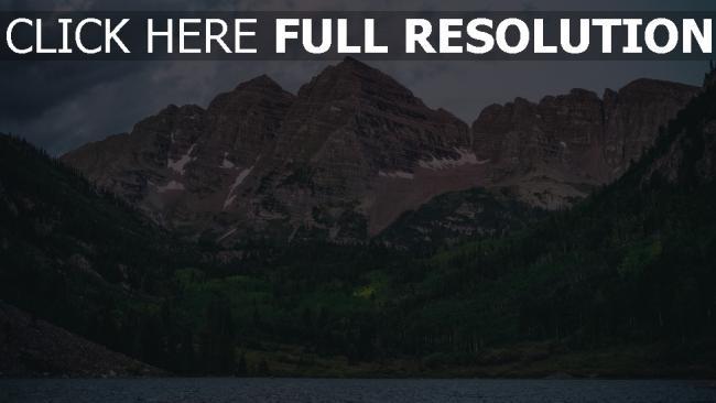 hd hintergrundbilder see berge maroon bells vereinigte staaten