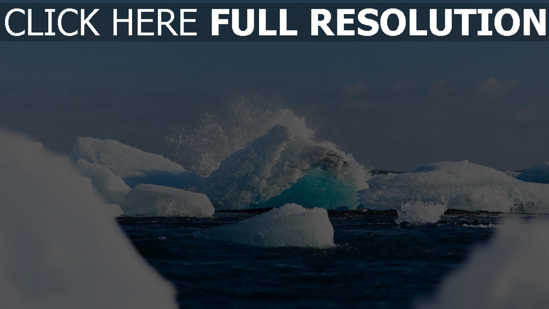 hd hintergrundbilder eis gletscher vatnajökull schnee island 1920x1080