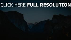 sternenhimmel gebirge nacht gipfel