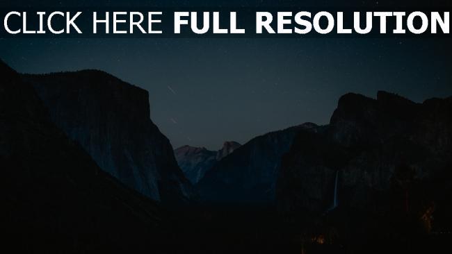 hd hintergrundbilder sternenhimmel gebirge nacht gipfel