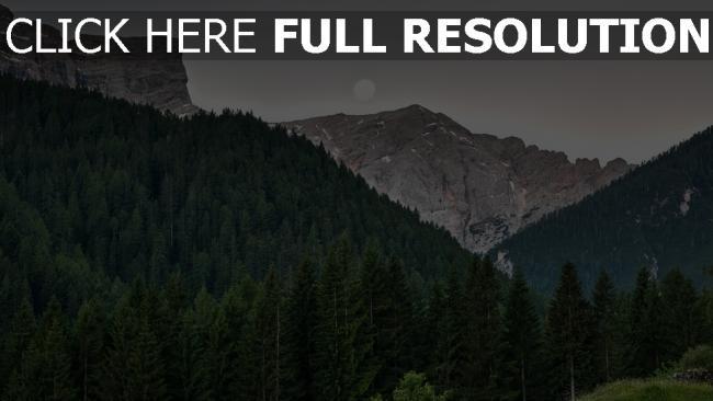 hd hintergrundbilder himmel bäume berge