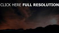 wolken sterne nacht himmel