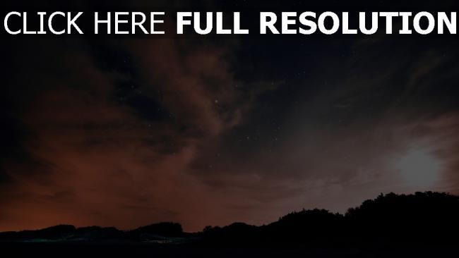 hd hintergrundbilder wolken sterne nacht himmel