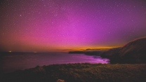 meer sternenhimmel nacht strand sterne