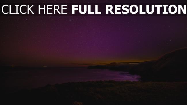 hd hintergrundbilder meer sternenhimmel nacht strand sterne