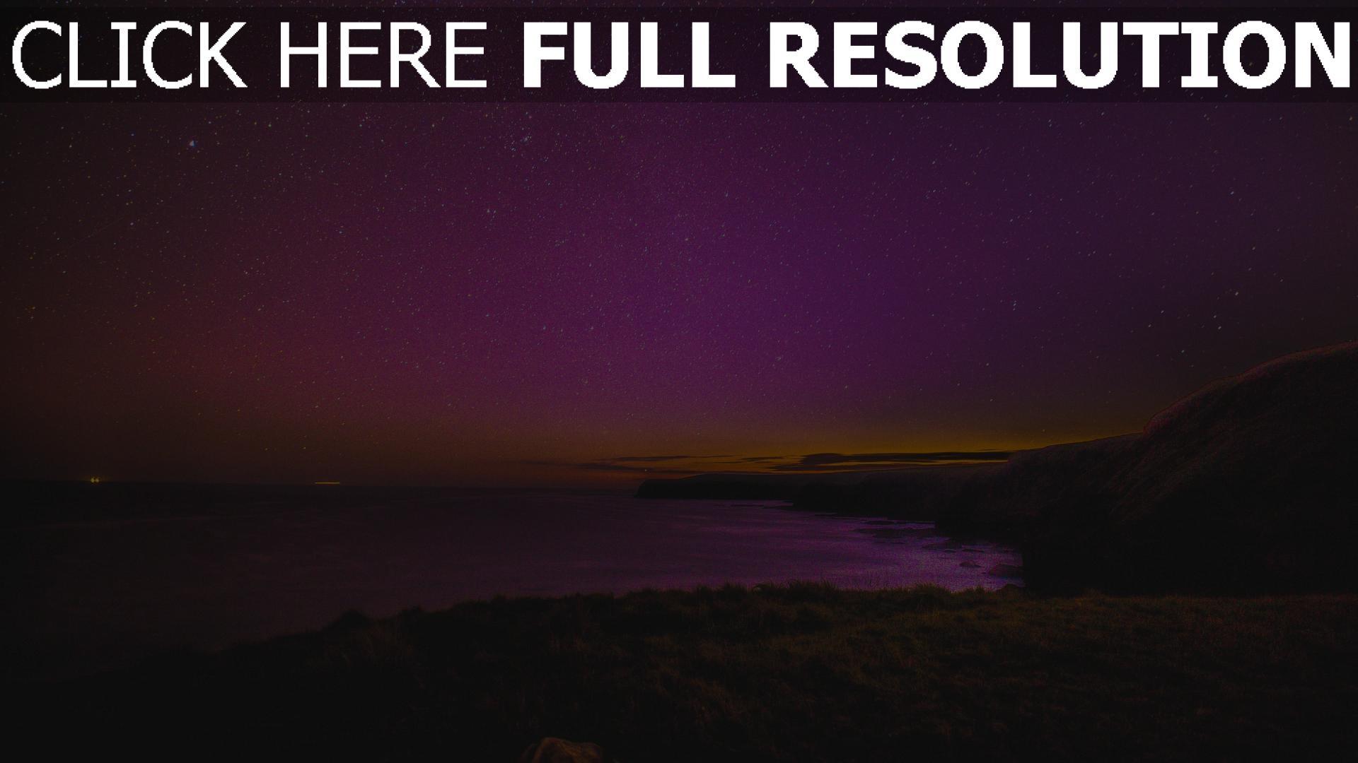 hd hintergrundbilder meer sternenhimmel nacht strand sterne 1920x1080