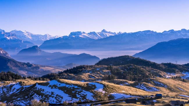 hd hintergrundbilder abstand schnee berge bäume