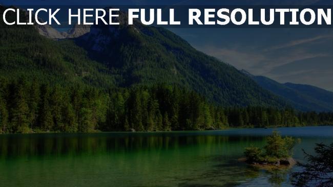 hd hintergrundbilder sommer befriedung berge see