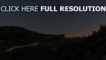 nacht himmel sternenhimmel berge ansicht von oben sterne