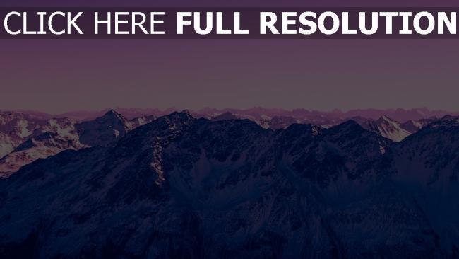 hd hintergrundbilder gipfel lila berge