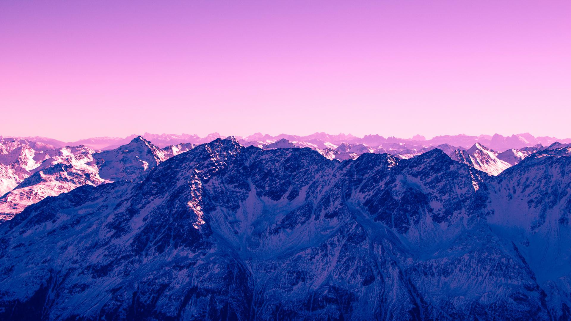 hd hintergrundbilder gipfel lila berge 1920x1080