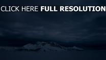 nebel berge schnee