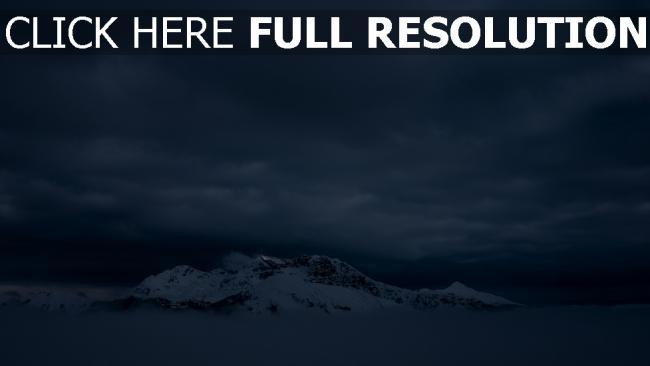 hd hintergrundbilder nebel berge schnee