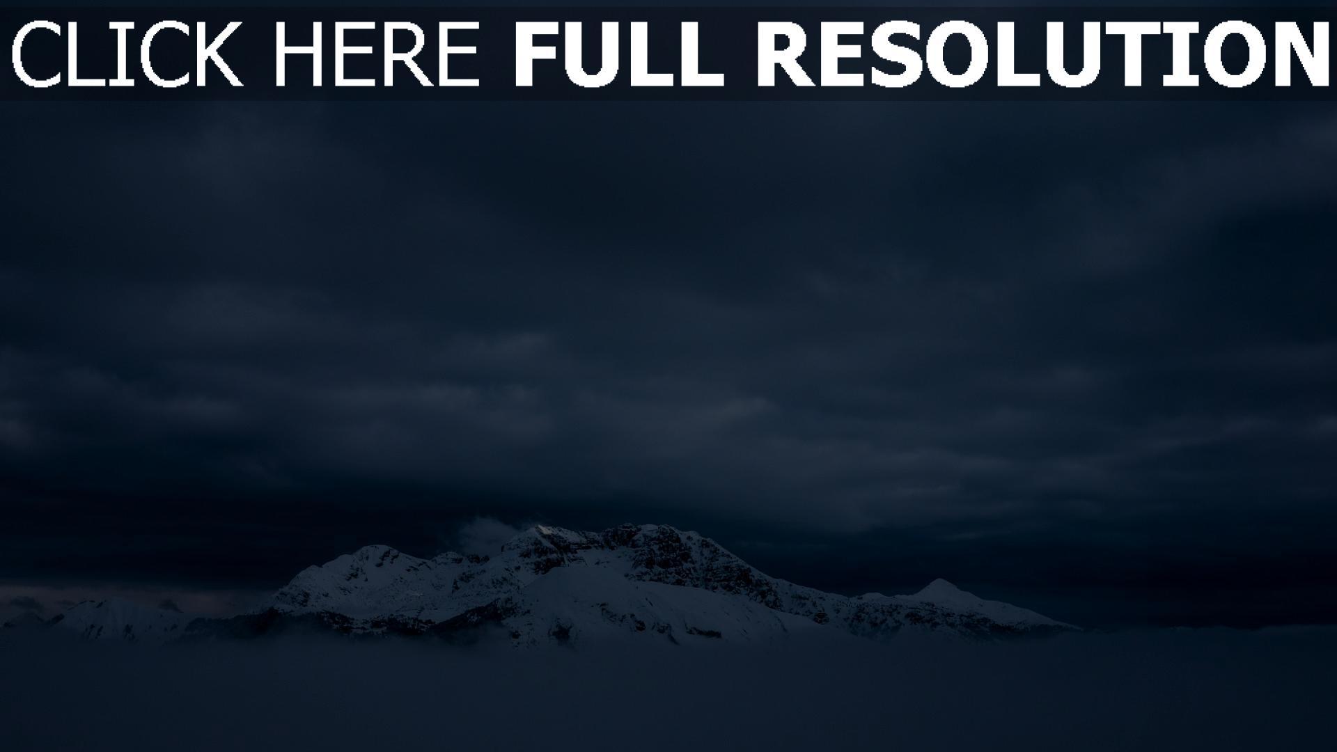 hd hintergrundbilder nebel berge schnee 1920x1080