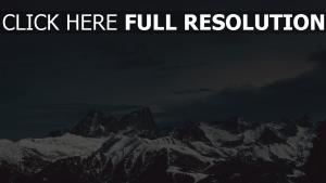 nacht schnee himmel berge