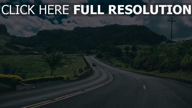 hd hintergrundbilder straße berge auto verkehr