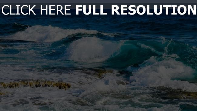 hd hintergrundbilder steine schaum strand meer ozean