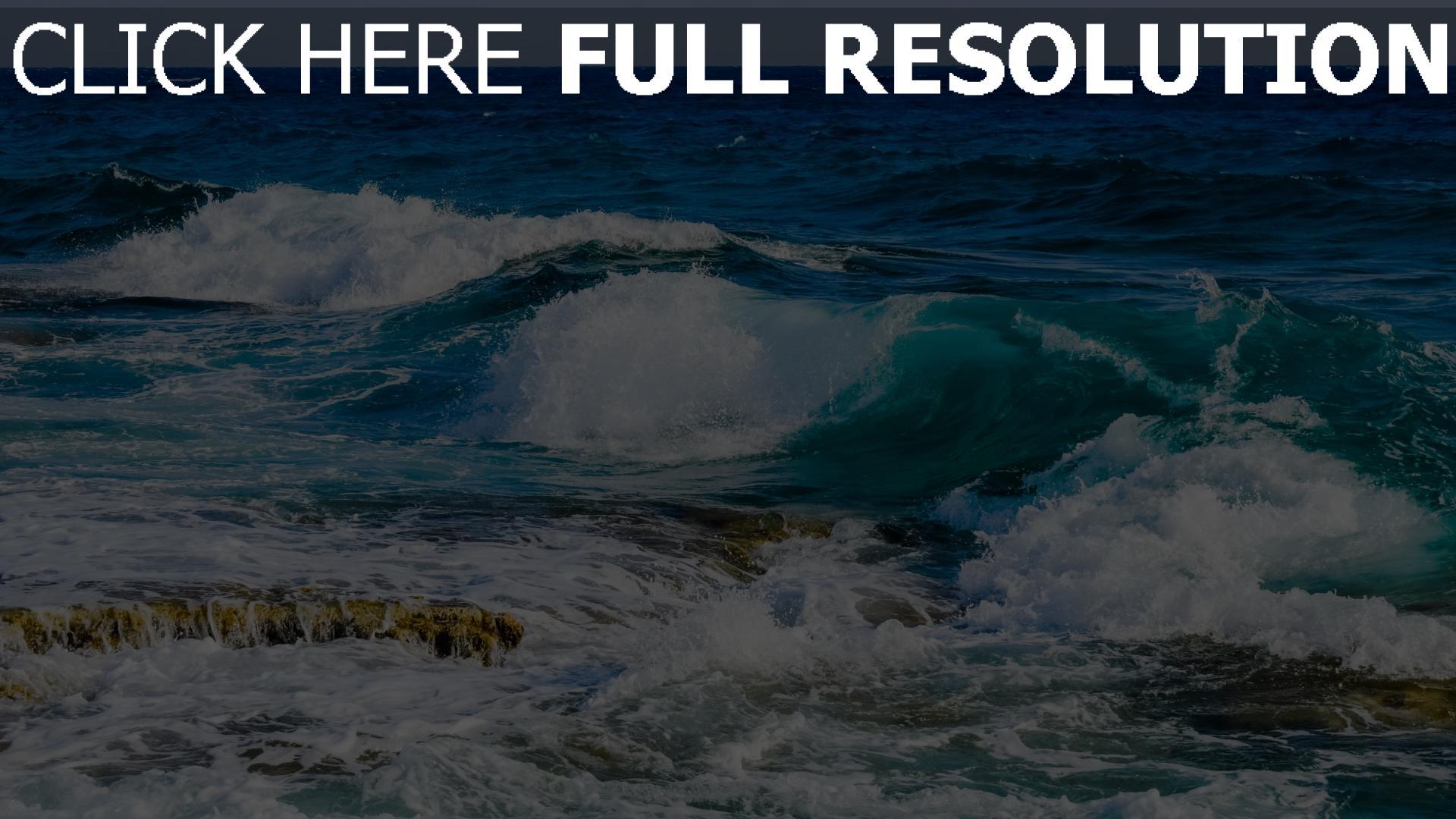 hd hintergrundbilder steine schaum strand meer ozean 1920x1080
