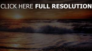 meer brandung schaum sonnenuntergang hdr ozean