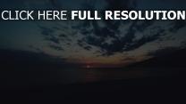 meer strand wolken sonnenuntergang