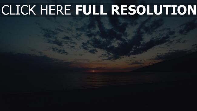 hd hintergrundbilder meer strand wolken sonnenuntergang