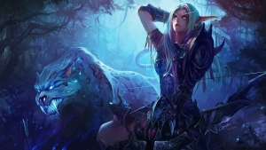 world of warcraft wow night elf hunter