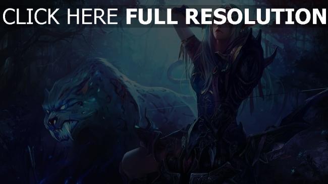 hd hintergrundbilder world of warcraft wow night elf hunter