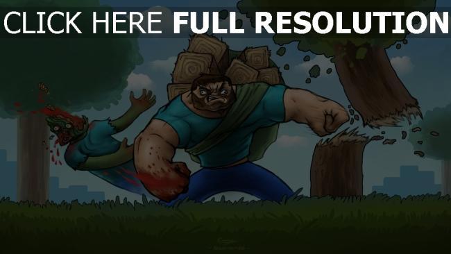 hd hintergrundbilder minecraft versagen schlaganfall zombies blut