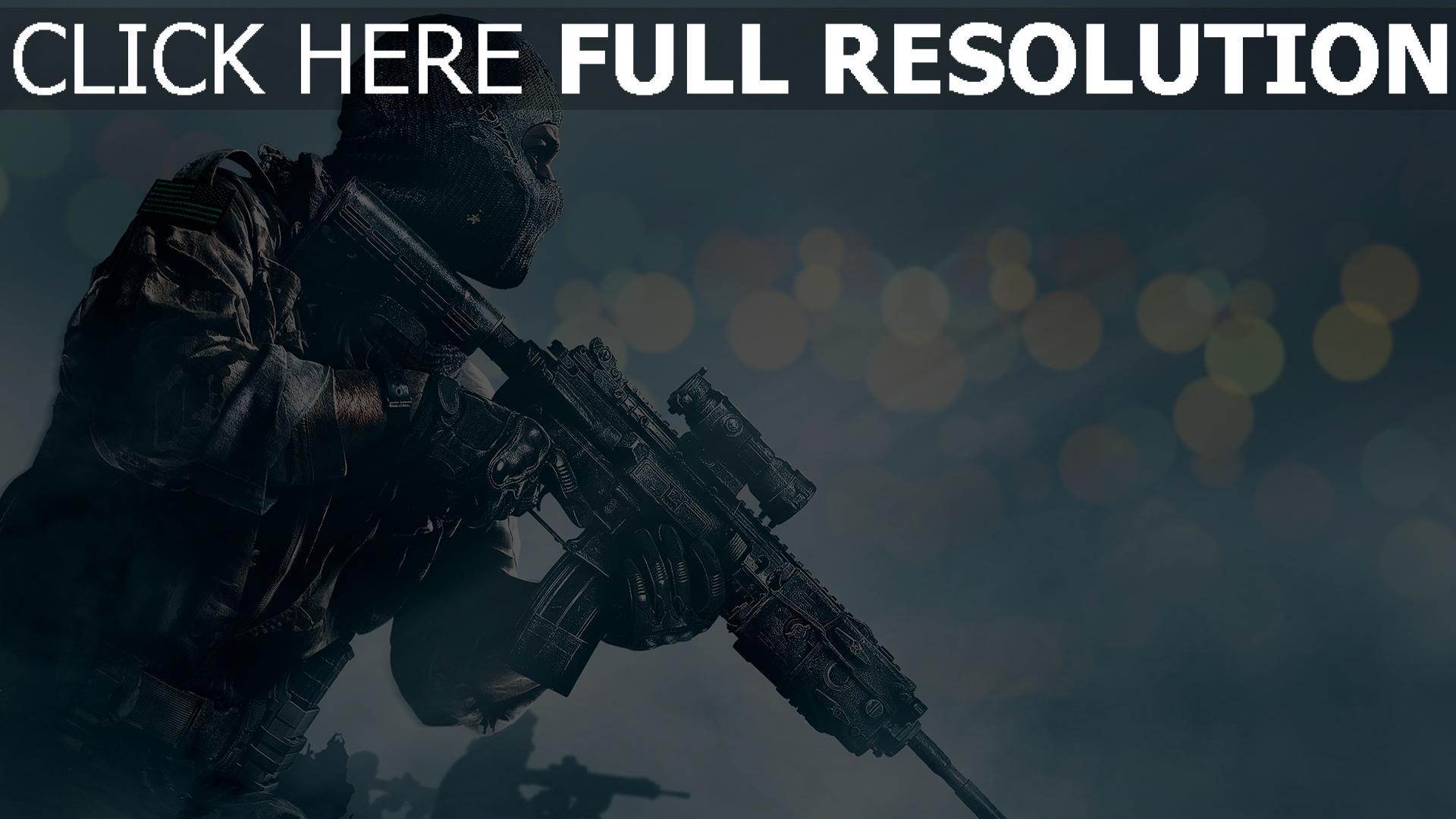 HD Hintergrundbilder Call Of Duty Ghosts Shooter