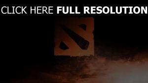 dota 2 logo schatten art
