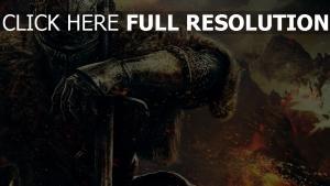 dark souls 2 schwert krieger rüstung helm