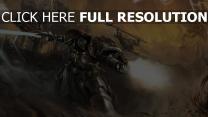 warhammer 40000 battle sci-fi art