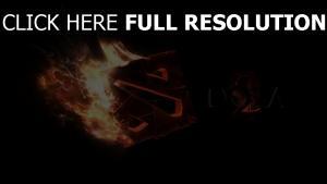 dota 2 logo feuer technik dunkel