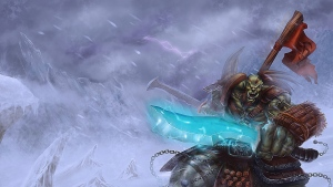 banner orc snow world of warcraft