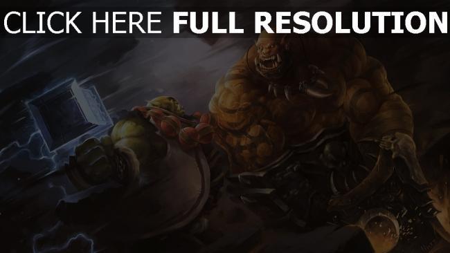 hd hintergrundbilder garrosh hellscream world of warcraft