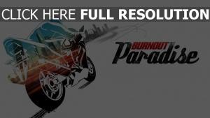 paradise motorcycle burnout