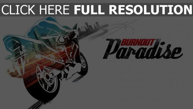 hd hintergrundbilder paradise motorcycle burnout